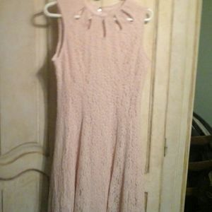 Danny and Nicole pink lace dress size 10
